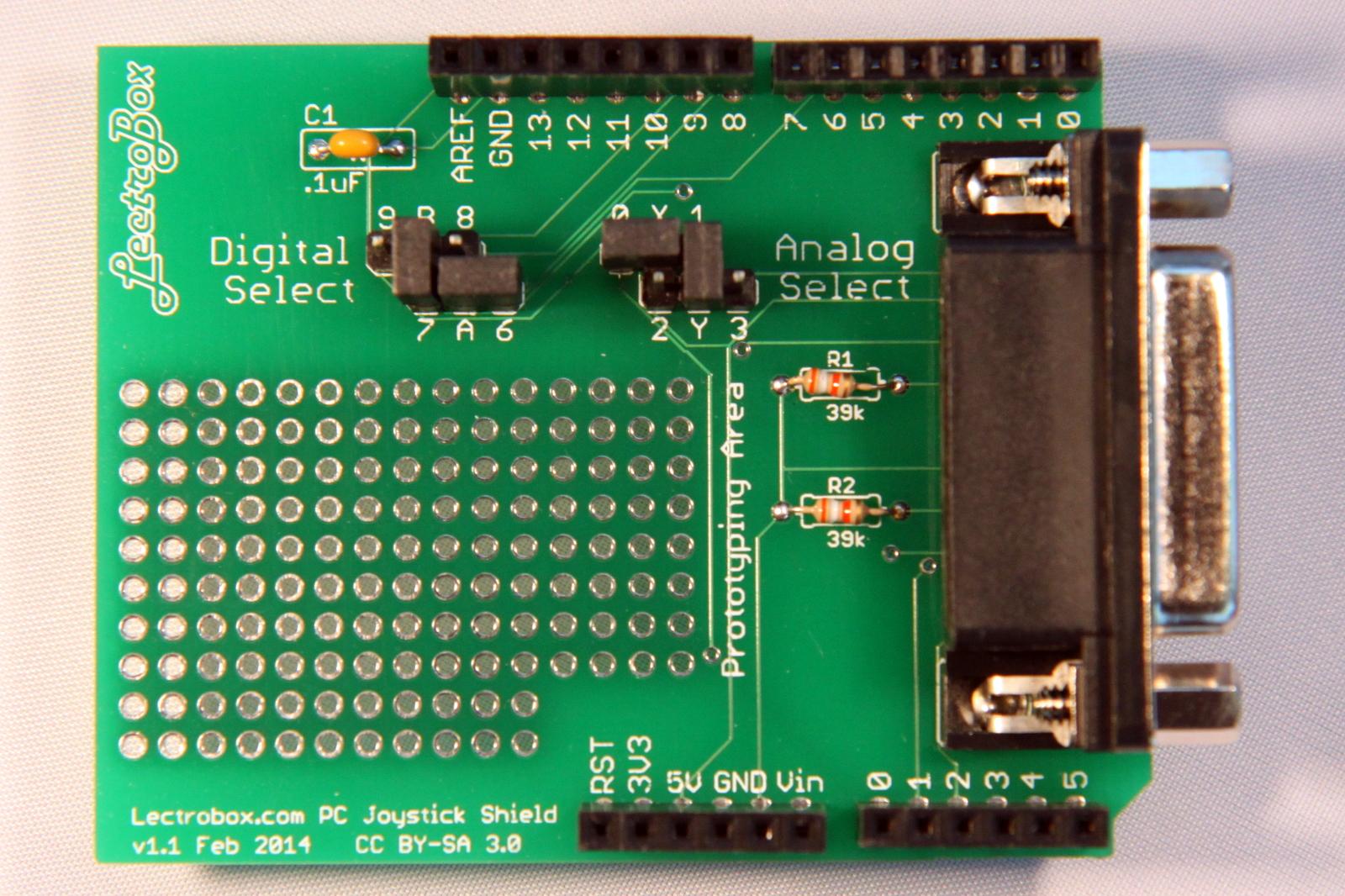 Arduino Joystick Shield For Pc Game Port Joysticks